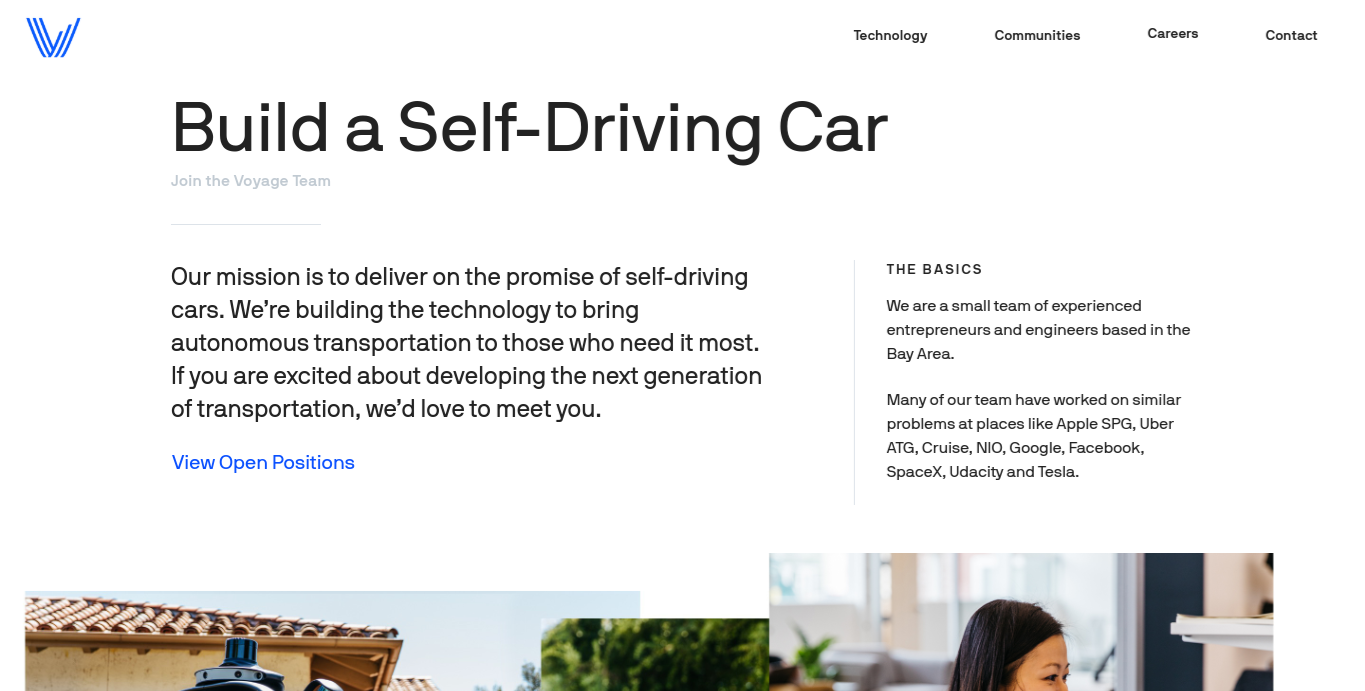 Voyage Auto Careers Page