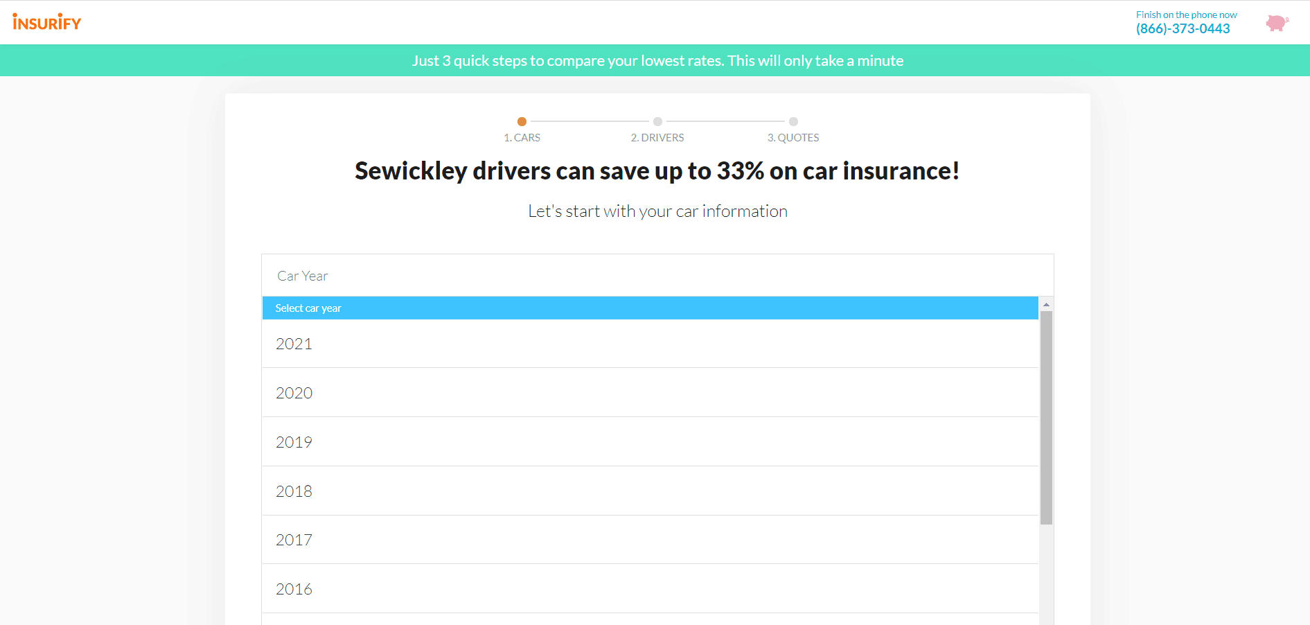 Insurify Website Online Car Insurance Quote Car Information
