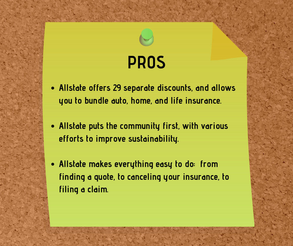 Pros and Cons for Allstate