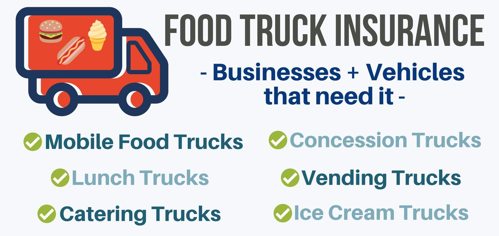 Examples of vehicles requiring food truck insurance coverage