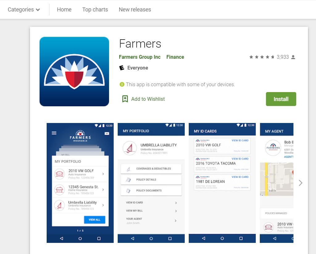 Farmers mobile app google store