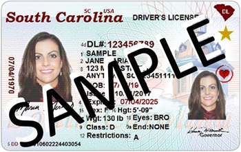 South Carolina REAL ID. From the South Carolina DMV website.