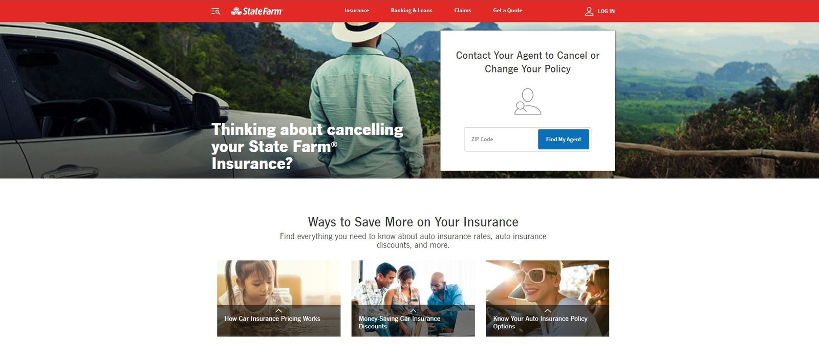 Statefarm cancellation page