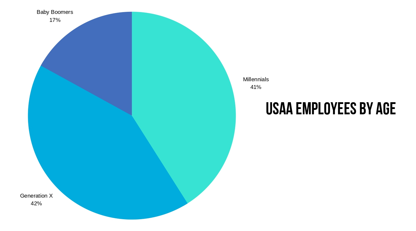 USAA Employees by Age