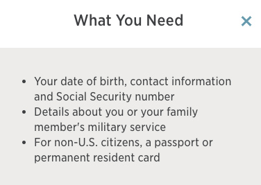 USAA eligibility for a quote/account#2