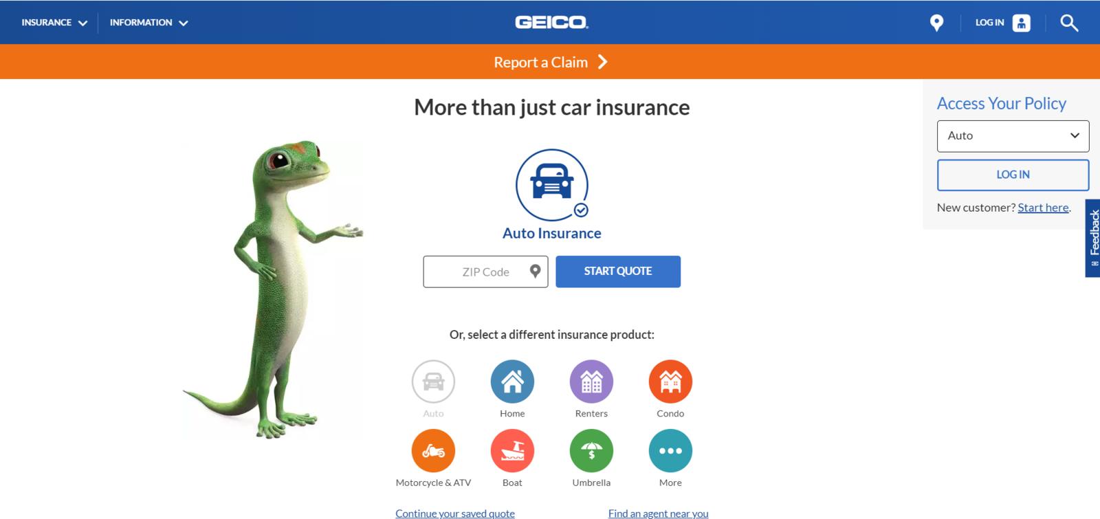 Geico website
