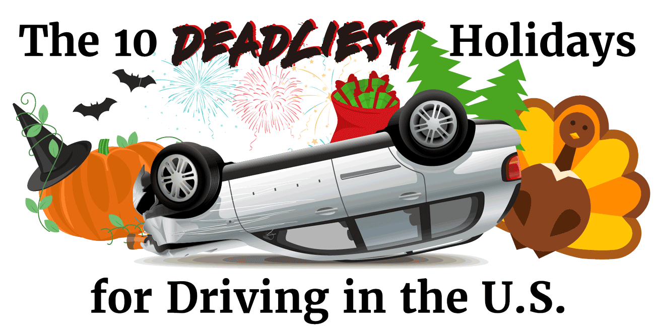 The 10 deadliest holidays for driving in the U.S.