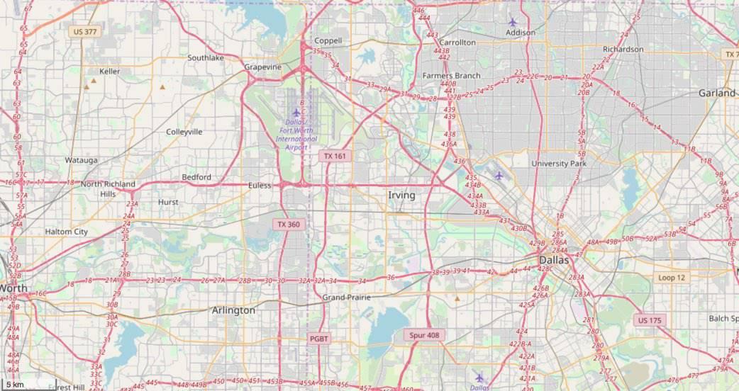 Irving, TX Highways