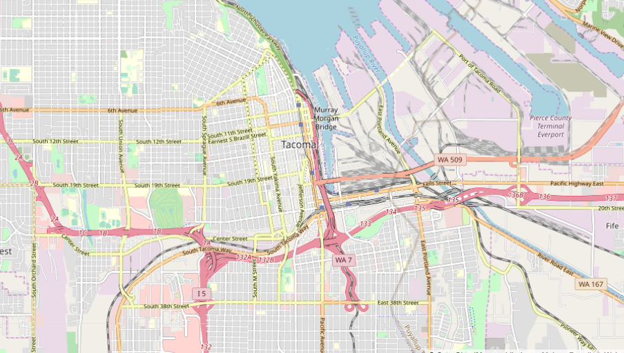 map of highways in tacoma
