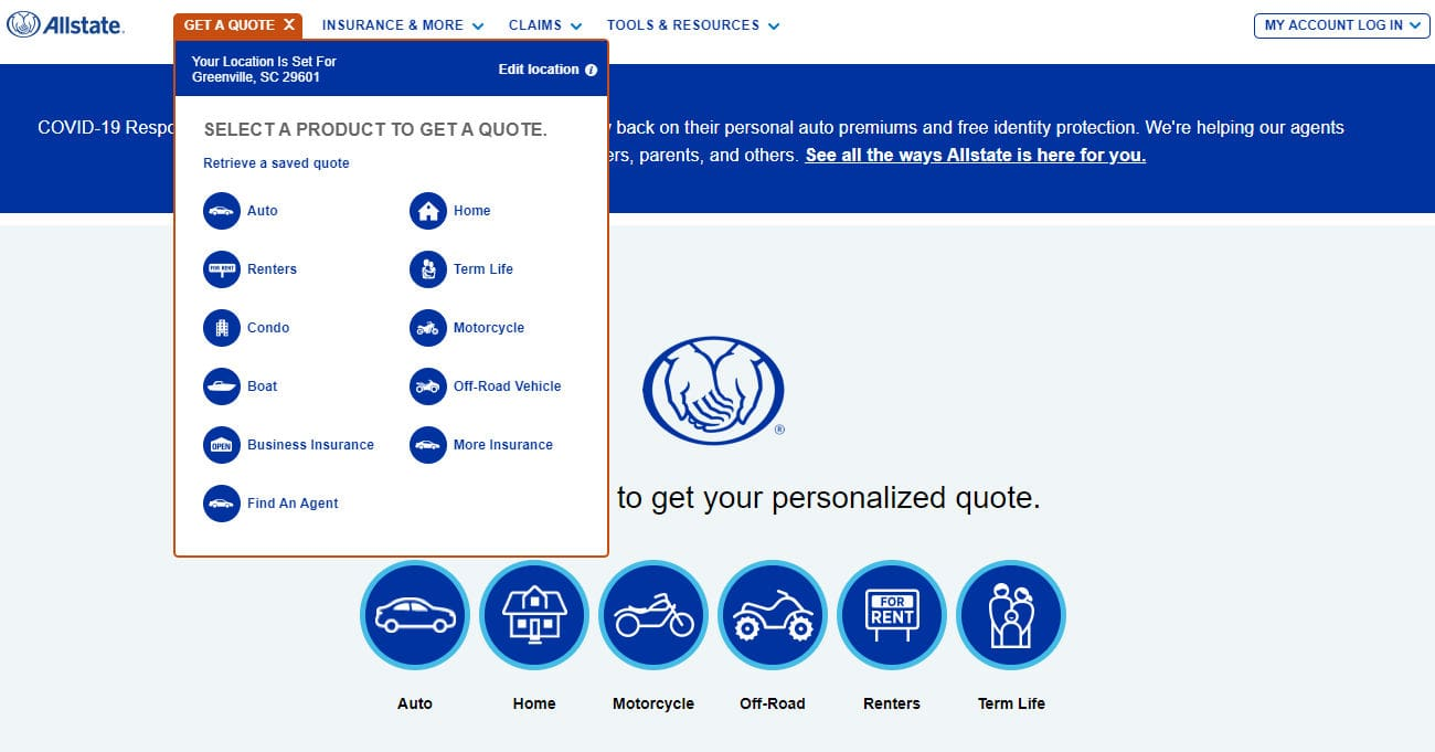 Allstate Auto Insurance Get a Quote