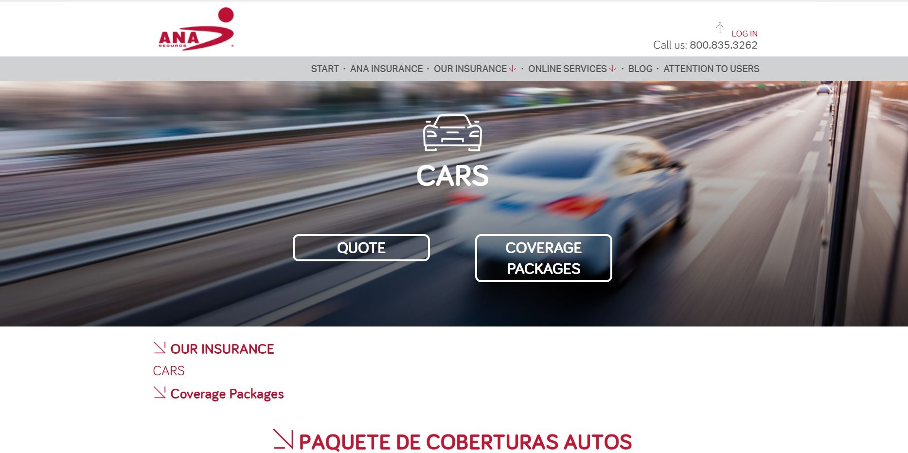 Ana Compania De Seguros Auto Insurance Online Quote Start Page