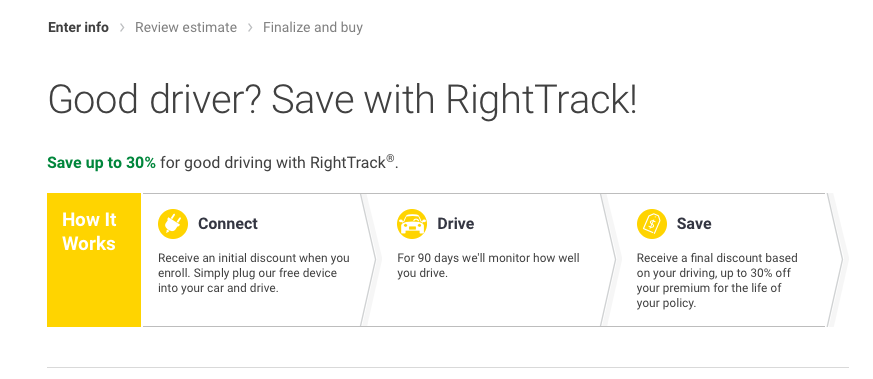 save with righttrack liberty mutual quote