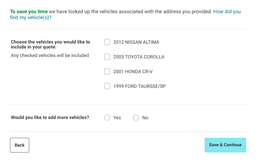 confirm vehicle information liberty mutual quote