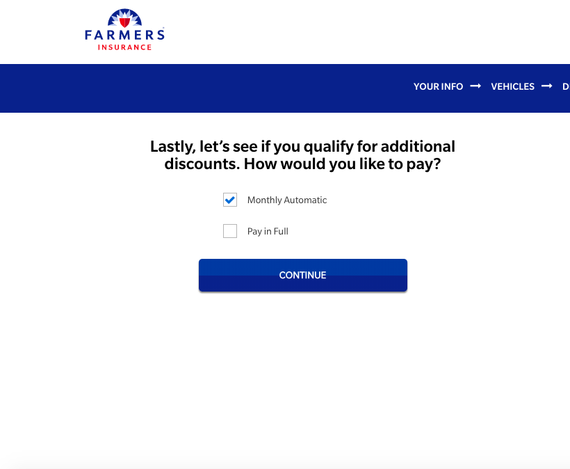 discounts farmers quote