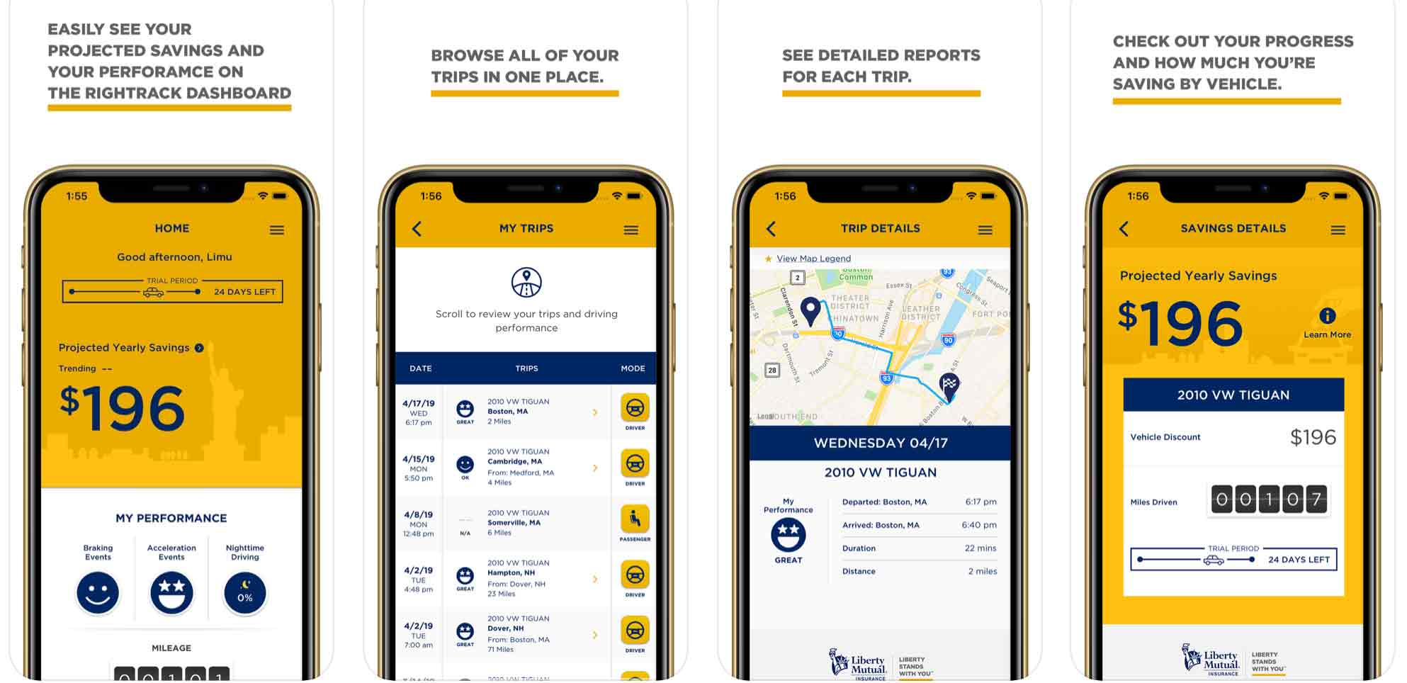 Liberty Mutual RightTrack App