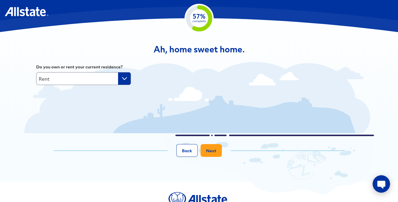 Allstate online quote form rent own