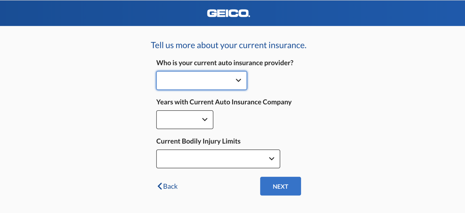Geico quote saved vehicles