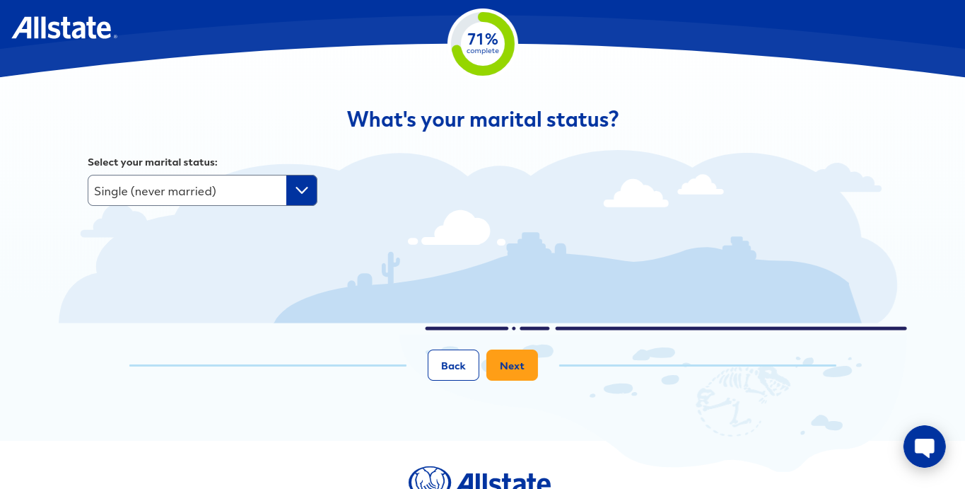Allstate online quote form marital