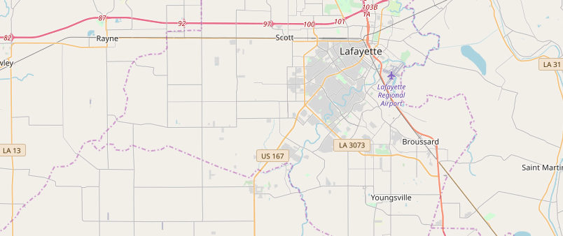 Lafayette, LA's Major Highways