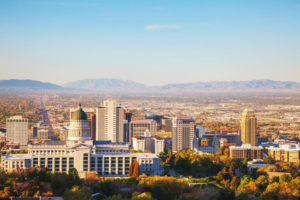 Salt Lake City panoramic overview.