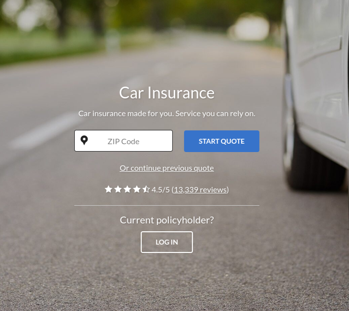 Geico car insurance quote home page