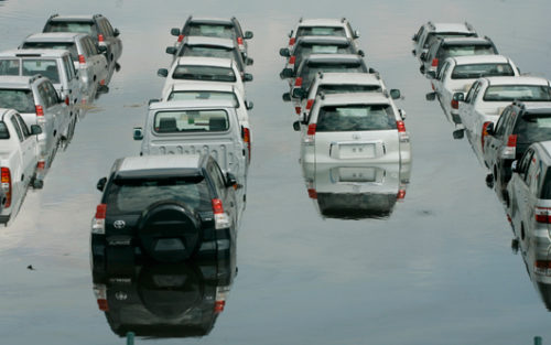 Flooded cars can be a nightmare for their owners.