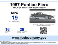 EPA Fuel Economy Window Stickers Available for Used Cars