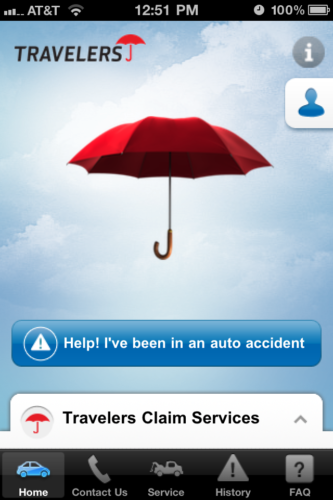 """Auto Accident Help"" is available for iOS and Android devices."