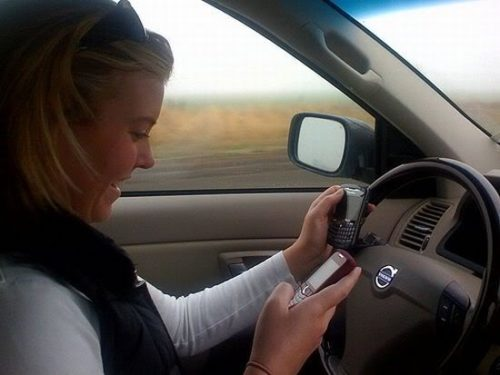 Distractions, such as cell phone use, car lead to accidents.