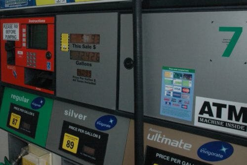 Gas prices are in a monthlong downward trend.