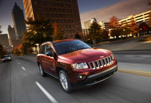 Jeep Compass sales rose 10-fold.
