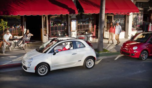 The Fiat 500 posted its best sales month ever in February.