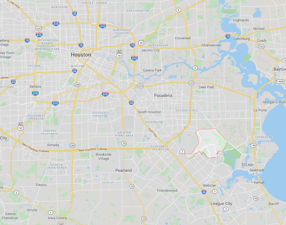 map showing the Cheapest ZIP code in Houston