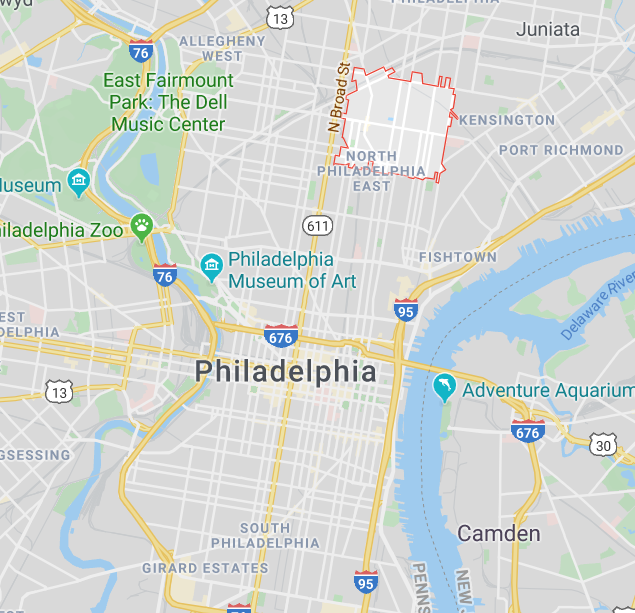 map of the Most Expensive Zip code in Philadelphia