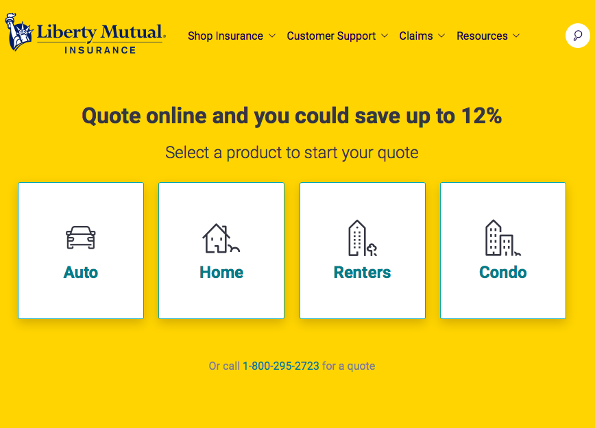 Liberty Mutual Home site