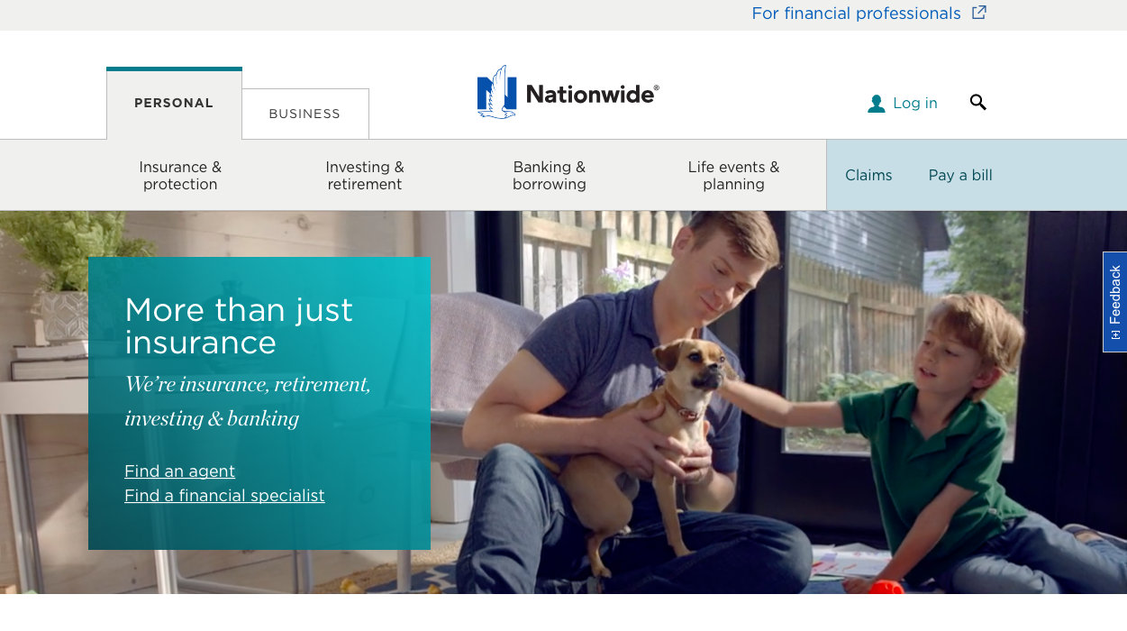 Nationwide website home page