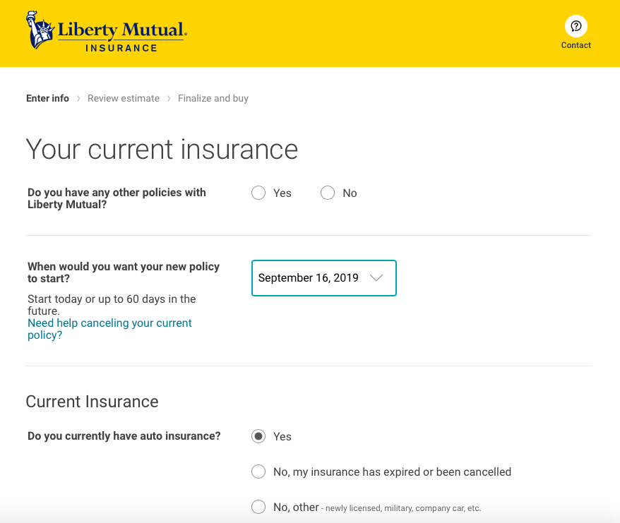 Liberty Mutual Current Insurance