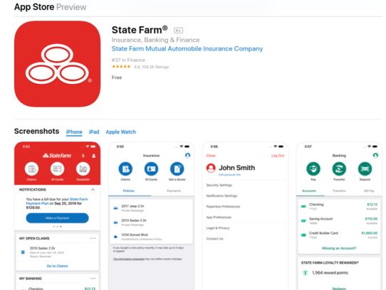 State Farm Regular App iOS Store