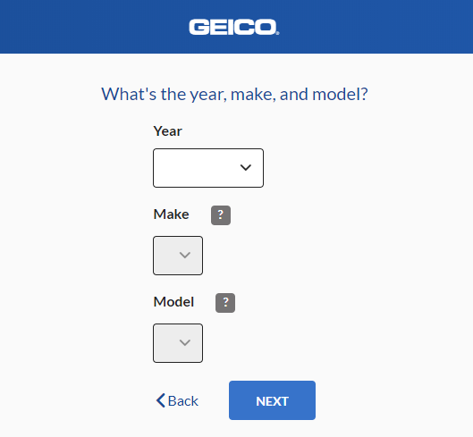 Geico Auto Insurance Quote - Car Make
