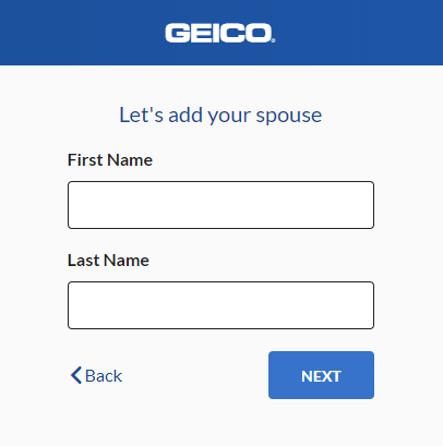 Geico Auto Insurance Quote - Spouse