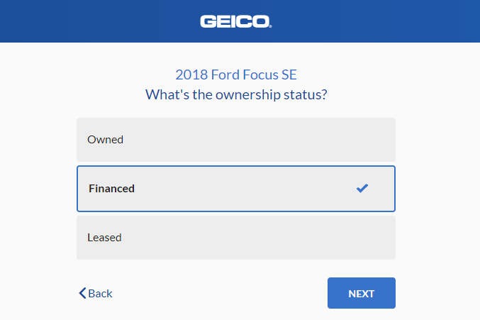 Geico Auto Insurance Quote - Car Ownership