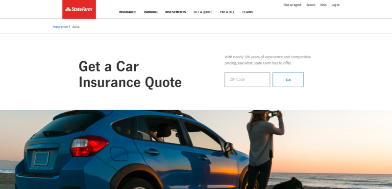 State Farm Auto Insurance Page