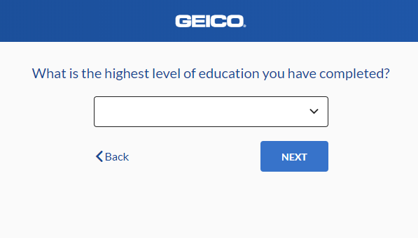 Geico Auto Insurance Quote - Education