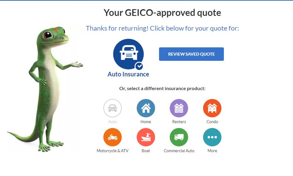 Geico Auto Insurance Quote - Design