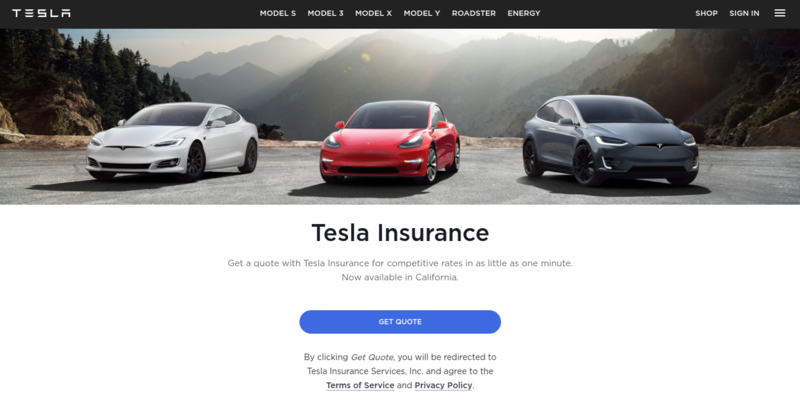 Get a Tesla insurance quote