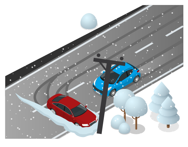 Does collision coverage cover icy roads?