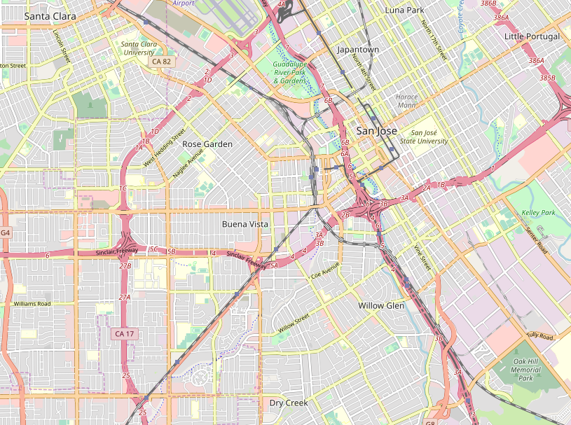 San Jose map (Open Street Map)