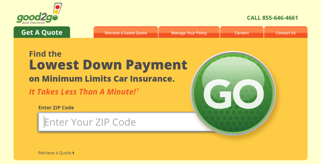Good2go auto insurance quote zip code entry