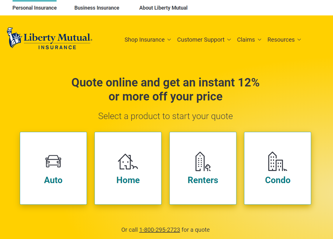 Liberty Mutual Homepage 1