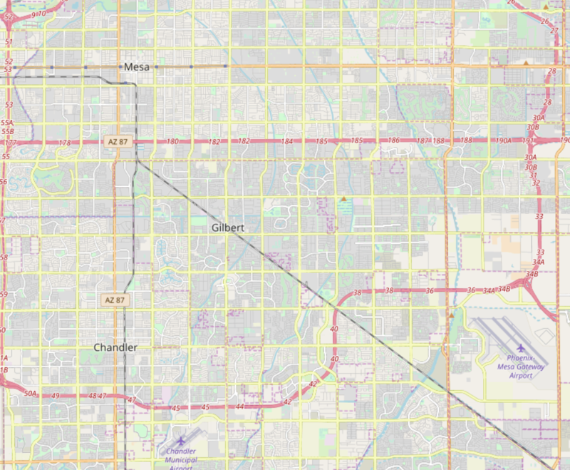 Gilbert road map